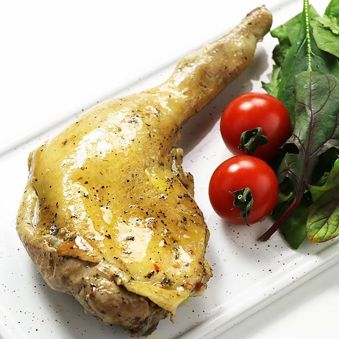 【国産銘柄鶏】錦爽どりの骨付きモモ肉 ハーブ焼き (きんそうどり) 1本 調理済み