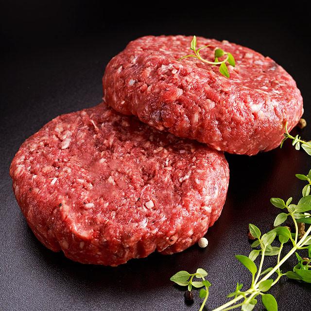 グラスフェッドビーフ  牧草牛 100% 生ハンバーグステーキ  300g【無添加】