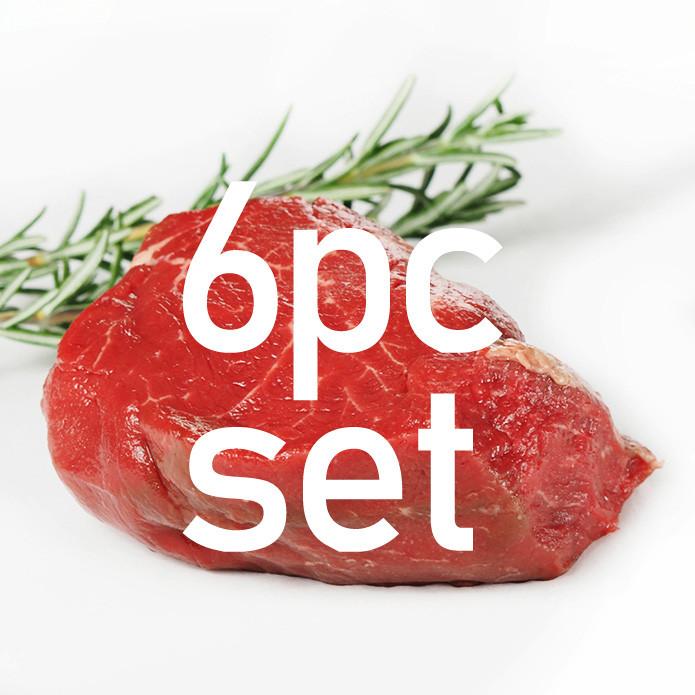 【送料無料】グラスフェッドビーフ フィレ / ヒレステーキ 180g×6枚 【20% OFF】