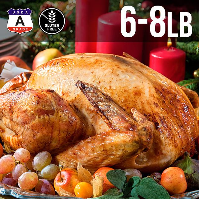 【送料無料】アメリカ産 七面鳥 ターキー 丸 6-8ポンド 約3kg 6-8人用