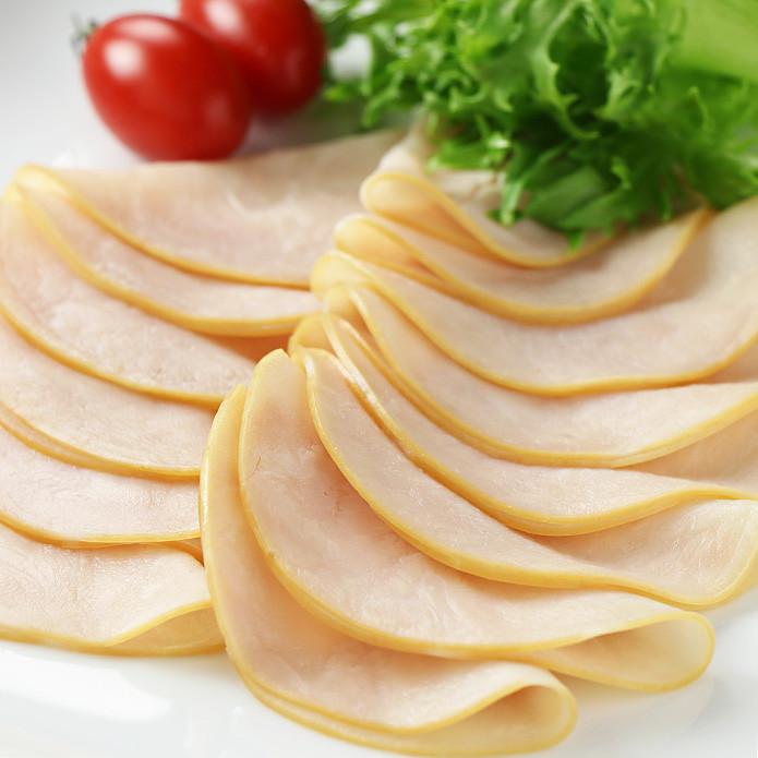 スモークド ターキーブレストスライス (七面鳥ムネ肉のデリハム) 500g