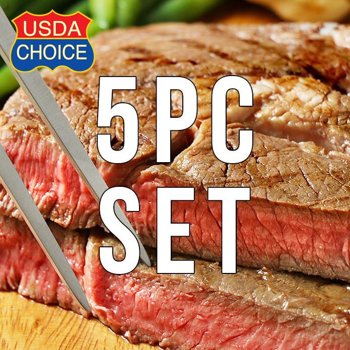 【送料無料】USDAチョイス アメリカンビーフ 特大リブロースステーキ 350g×5枚セット ステーキスパイスのおまけ付き