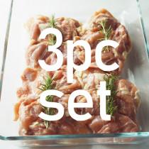 (送料無料)【国産銘柄鶏】錦爽鶏の骨なしモモ肉 (きんそうどり) 1kg × 3パックセット