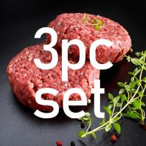 無添加!グラスフェッドビーフ(牧草牛)100% ハンバーグステーキ 6個セット