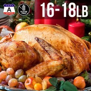 【送料無料】アメリカ産 七面鳥 ターキー 丸 16-18ポンド 8kg 約16-18人用