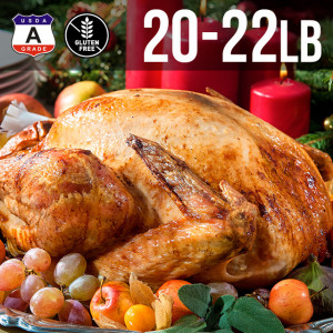 【送料無料】アメリカ産 七面鳥 ターキー 丸 20-22ポンド 9kg 約20-22人用