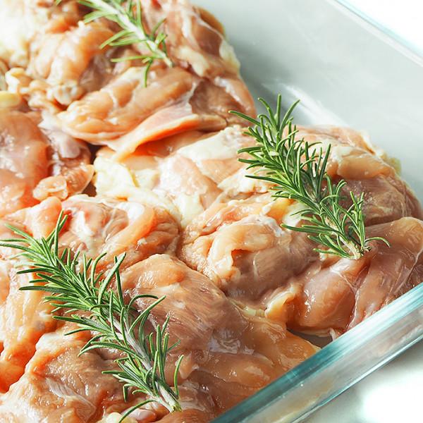 【国産銘柄鶏】錦爽鶏の骨なしモモ肉 (きんそうどり) 1kg