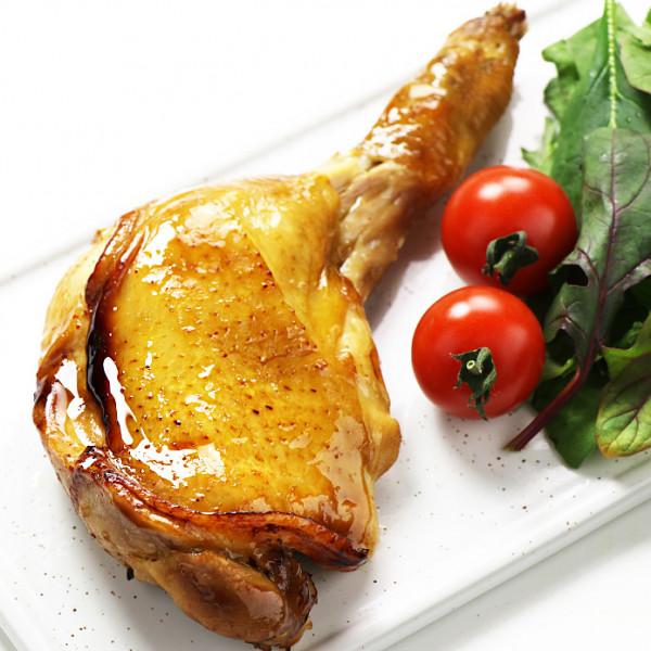 【国産銘柄鶏】錦爽どりの骨付きモモ肉 照り焼き (きんそうどり) 1本 調理済み