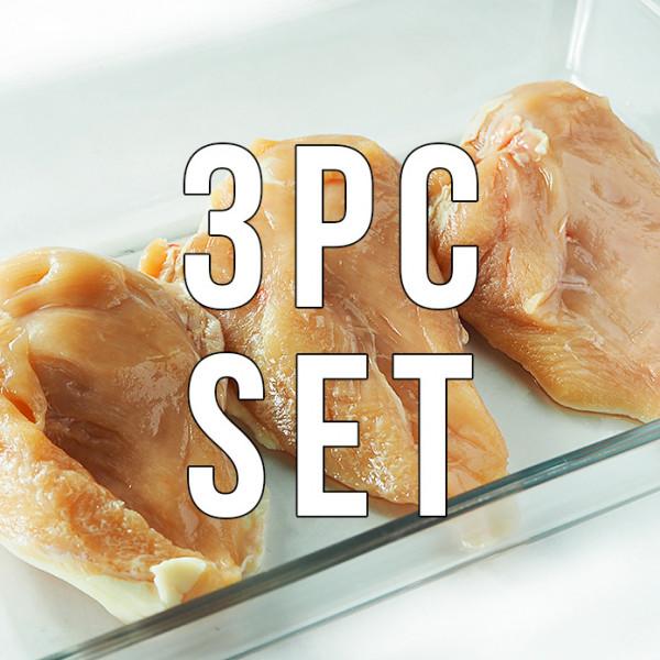 【送料無料】【国産銘柄鶏】錦爽鶏のムネ肉 (きんそうどり) 1kg × 3パックセット