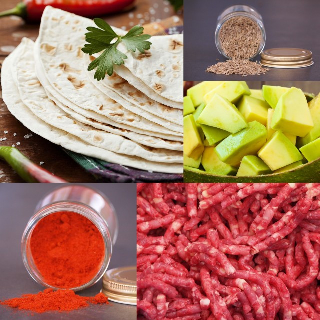 (FREE SHIPPING) Ultimate Tacos / Burrito / Guacamole Kit