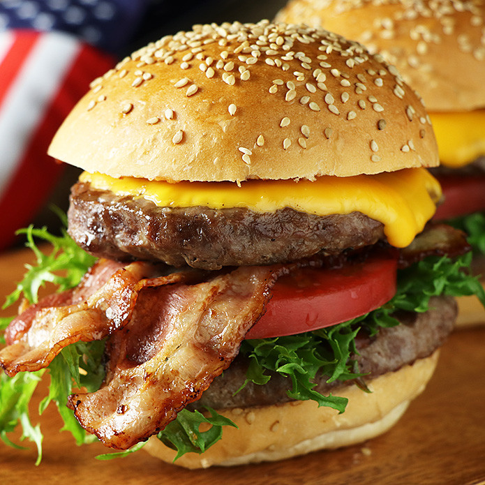 Double Bacon Burger Set - For 4 Burgers