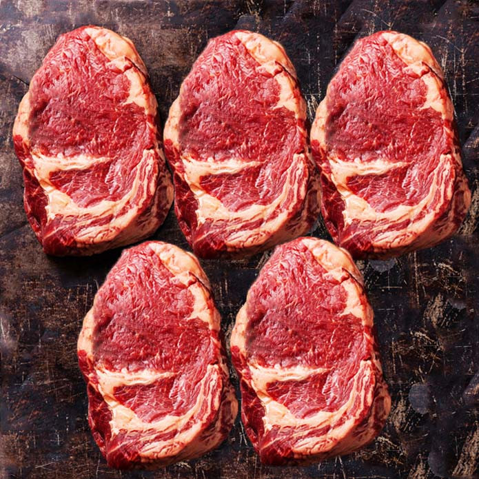 Ribeye Steak of New Zealand Beef (270g X 5PC) VALUE SET