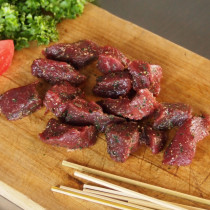 Spiced Ostrich Cubes (150g + 10 Skewer Sticks)