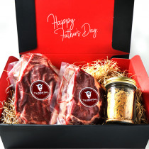 (Free Shipping)Father's Day Gift!  Rib Roast and Sirloin Steak Sampler Set 1kg