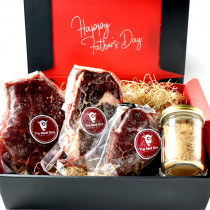 (Free Shipping)Father's Day Set! 3 Piece Grass Fed Beef Steak Sampler Set! 1kg