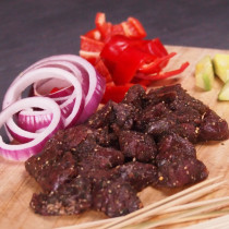 Spiced Kangaroo Cubes (150g + 10 Skewer Sticks)