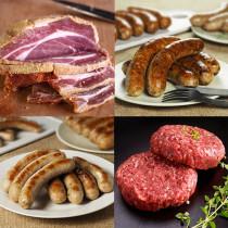 (Free Shipping)【NO ADDITIVES】Homemade Ham Sausage and Hamburg Set (approx.2kg)