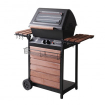 【FREE SHIPPING】Gas BBQ Grill - California Patio - Jumbo Model