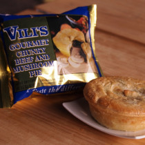 Vili's Beef & Mushroom Meat Pie - Whole Case(24pc)