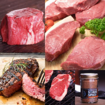 (FREE SHIPPING) Grass-Fed Super Steak Sampler Set