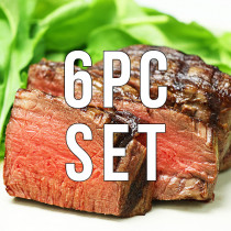 (Free shipping) 6 Filet Mignon Steaks (180g x 6pc)