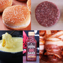Double Bacon Cheese Burger Set - For 4 Burgers