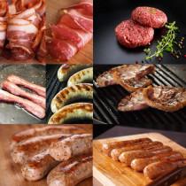 8-piece 3.8kg Ham, Sausage, and Hamburger Steak Set