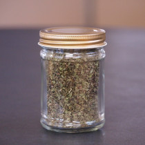Mint Leaves Coarse Ground in a Jar