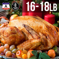 【FREE SHIPPING】USDA A Grade Premium Whole Turkey 16-18 lbs. (8kg)