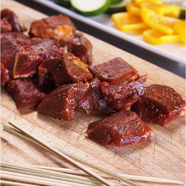 Spiced Beef Cubes (150g + 10 Skewers)