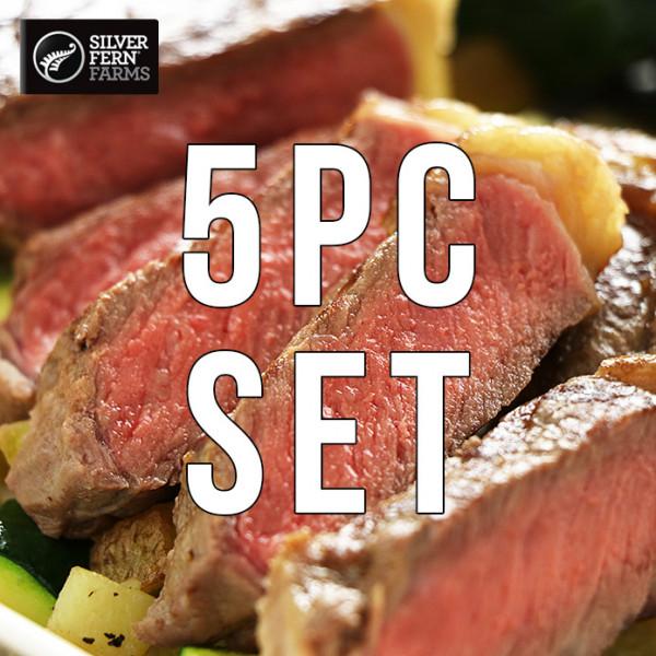 (Free Shipping) Strip Steak of New Zealand Beef (270gX 5PC) Value Set