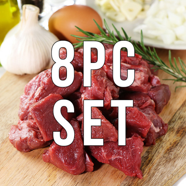 (Free Shipping) 100% Grass-fed Tenderloin Filet Cubes (250g) 8pc Set